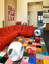 Bright Colored Area Rugs Crypton Sofa Kids Contemporary With Area Rug Art Bold Colors