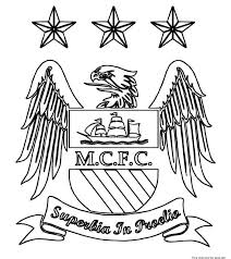 manchester logo soccer coloring pages free printable