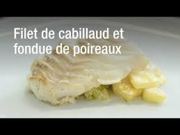 cuisiner dos de cabillaud poele recette du filet de cabillaud et fondue de poireaux