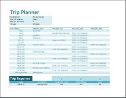 trip planner templates formal vacation trip planner template word excel templates