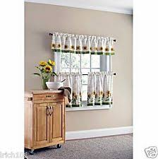 Cafe Tier Curtains Mainstays Cafe Tier Curtains Ebay