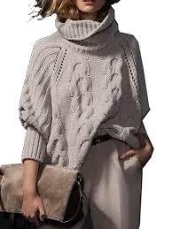 high sweaters choies s acrylic high neck chunky cable sleeve