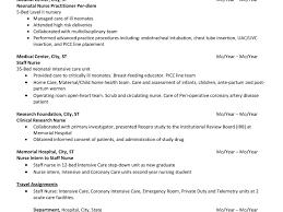 resume for nursing internship sle nurse educator resume magnificent cover letter objective oncology