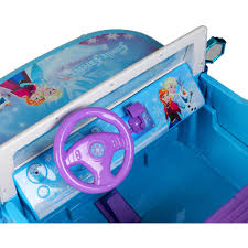 frozen power wheels sleigh disney frozen suv 12v battery operated ride on walmart com