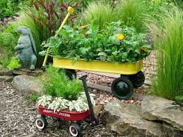 Garden Containers Ideas - red wagon ideas 21 ways to repurpose little red wagons