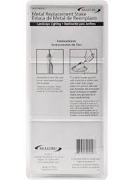 malibu lighting 8101 4820 01 replacement metal stake amazon com