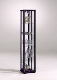 Glass Display Cabinet Perth 40cm Black White Display Cabinet Led Lights Glass Shelves