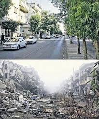 syria before and after syria s heritage in ruins before and after pictures world news