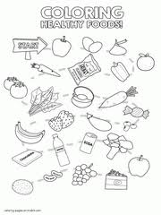 coloring pages for food the meat and beans group