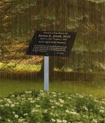 outdoor memorial plaques garden outdoor memorials