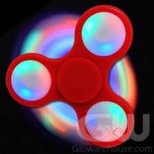 a light up fidget spinner glowing fidget spinner with led lights glowarehouse com