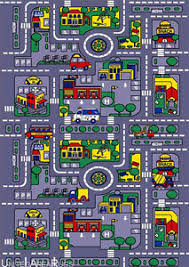 7x10 Area Rug 7x10 Area Rug Play Road Driving Time Car City Map