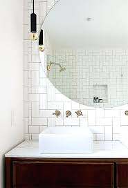 wall mirrors round lighted bathroom wall mirror medium size of