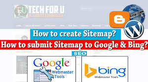 how to create a sitemap for website submit to google u0026 bing how