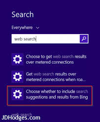 how to disable bing web results in windows 10 s search windows 8 1 disable web search
