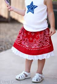 make a bandana girls skirt diycandy com