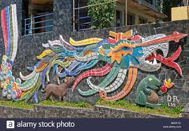 mexican mural stock photos mexican mural stock images alamy created in 1956 by diego rivera when he was living in acapulco his dragon mural on