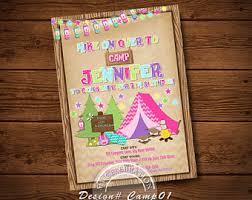 camping invitation etsy