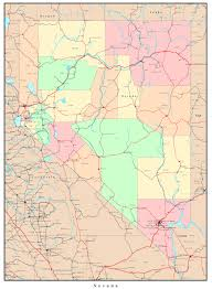 Arizona Strip Map by Nevada Political Map