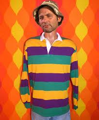 mardi gras polo shirt vintage rugby shirt 80s sleeve striped polo golf mardi gras