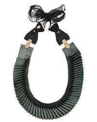 jewelry ribbon necklace images 3 1 phillip lim satin accordion pleated necklace jewelry trends jpg