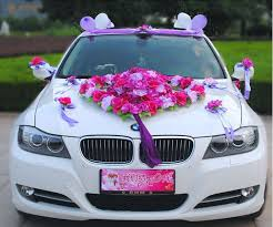 flower festooned vehicle wedding car decoration kit korean car