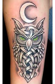 celtic owl tattoo idea