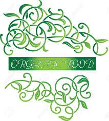 vector ornamental beautiful floral organic food logo design