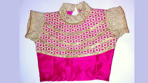 lehenga blouse with collar neck design and beautiful back design