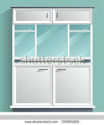 wardrobe cabinet closet dresser armoire vector stock vector