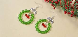 easy earrings easy tutorial on christmas glass beaded earrings for beginners
