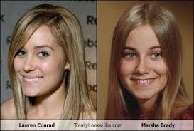 Lauren Conrad Meme - lauren conrad totally looks like marsha brady memebase funny memes