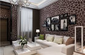 brilliant living room with map design wallpaper mural and living