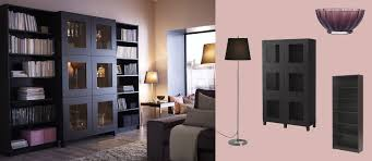 black bookcases with glass doors bestå cabinet with tempered glass doors and billy bookcases all in