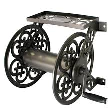 hampton bay decorative steel hose reel 708 the home depot