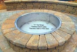 Fire Pit Liner by Fire Pit Liners Flage Rim Top