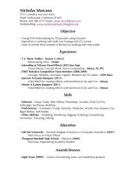resume format for electronics engineering student visual effects resume vfx compositor resume best apps and nicholas marcano vfx artist links and contact