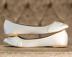 wedding shoes flats ivory wedding ballet flats etsy
