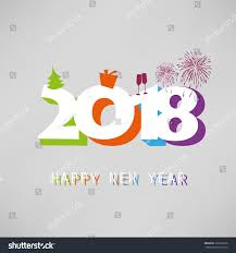 best wishes simple colorful new year stock vector 761605678