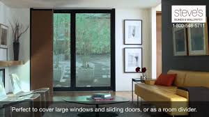 use levolor panel tracks for large windows doors or as room
