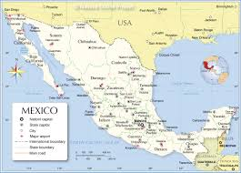Mexico On Map Map Of Mexico Mexican States Planetware And A All World Maps