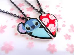 lilo and stitch bff necklace set
