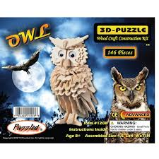 Owl Item by Amazon Com Owl 3d Jigsaw Woodcraft Kit Wooden Puzzle Toys U0026 Games