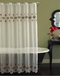 Heritage Lace Shower Curtains by Curtains Shower Curtain Lengths Sheer Fabric Shower Curtain