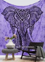 Bedroom Tapestry Wall Hangings Purple Tie Dye Valentina Harper Ruby The Asian Elephant Tapestry