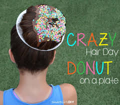 cool hair donut crazy hair day at lacrosse c