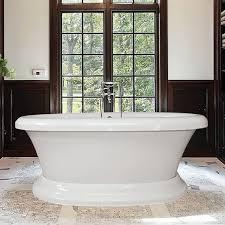 Bathtubs Free Standing Bello Pedestal Freestanding Soaking Or Air Tub Hydro Massage