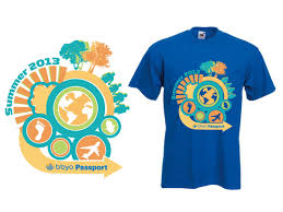 design a shirt program bold playful travel t shirt design for a company by ambre lee