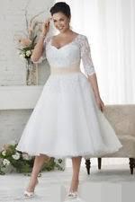 teacup wedding dresses tea length wedding dress ebay