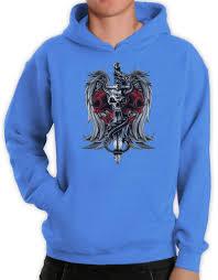 biker apparel biker death skull sword dragon tattoo gothic clothing hoodie small